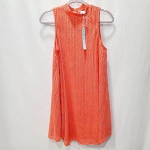 She + Sky NWT High Neck Lace Overlay Dress P184